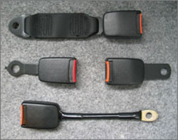 Traditional Black Plastic Seat Belt Buckle