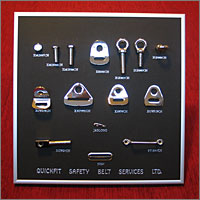 Chrome Seat Belt Components
