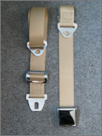 Example of a classic style lap strap seat belt
