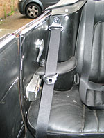 Seat belts fitted on Alfa Romeo Gulia GTV