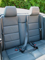 Rear Seat Belts in Audi A4 Convertible