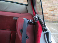 Jaguar XK150 FHC Seat Belt Detail