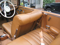 Mercedes 300SE Convertible Front and Rear Seat Belts
