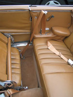 Mercedes 300SE Convertible Seat Belts
