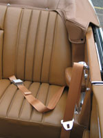 Mercedes 300SE Convertible Tan Seat Belts