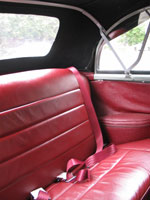 Morris Minor Convertible Rear Red Seat Belts