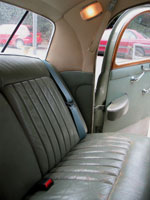 Rover P4 Blue Rear Seat Belt