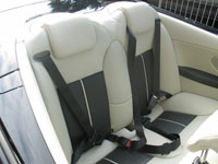 Seat Belts in Saab 93 Aero Convertible