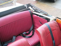 Triumph Vitesse Front and Rear Seat Belts