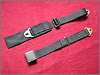 Example of a Period style lap strap seat belt 75mm